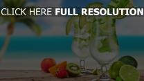 mojito azur océan cocktail