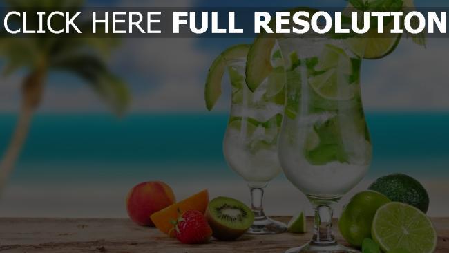 fond d'écran hd mojito azur océan cocktail