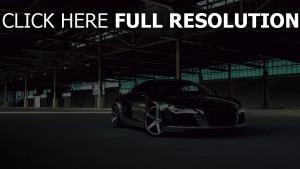 audi r8 noir surface brillante voiture sportive de prestige