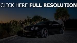 bentley continental voitures de luxe soirée