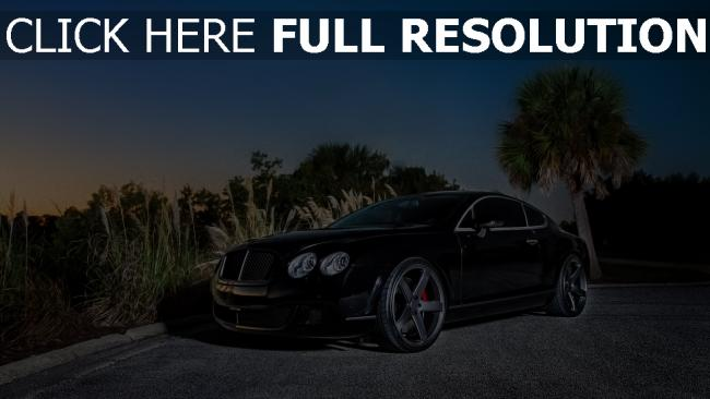 fond d'écran hd bentley continental voitures de luxe soirée