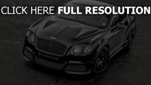 bentley continental vue d'en haut noire voitures de luxe