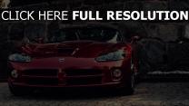 dodge viper surface brillante voitures de sport