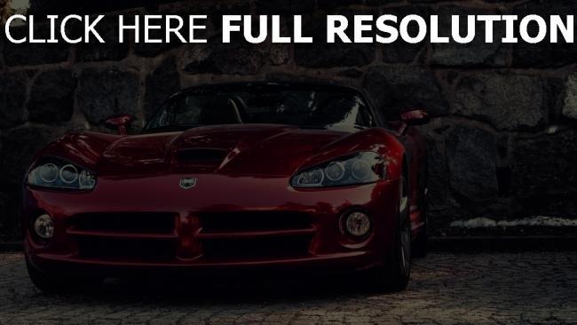 fond d'écran hd dodge viper surface brillante voitures de sport
