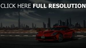 dodge viper rouge dubaï horizon