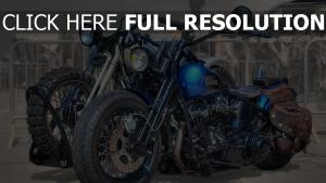 harley davidson moto vue de côté