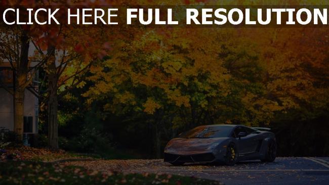 fond d'écran hd lamborghini gallardo rêve automne voiture sportive de prestige
