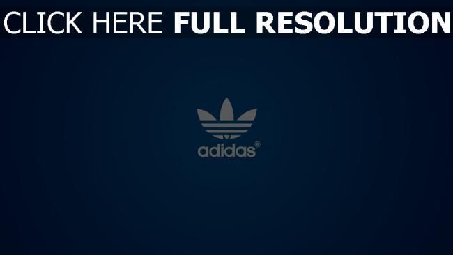 fond d'écran hd adidas bleu logo arrière-plan