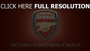 arsenal club de football logo inscription