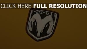 dodge logo jaune arrière-plan