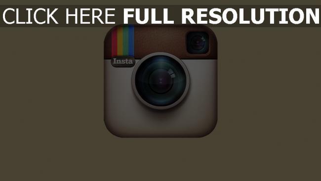fond d'écran hd instagram logo caméra