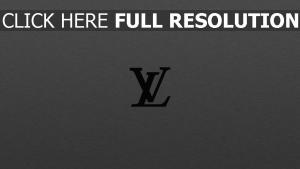 louis vuitton logo gris arrière-plan