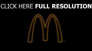 mcdonalds logo illuminée