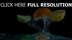 lime orange citron éclaboussures