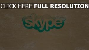 skype graffiti logo inscription