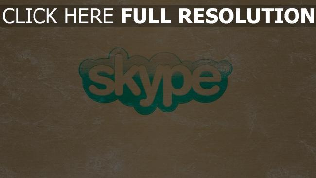 fond d'écran hd skype graffiti logo inscription