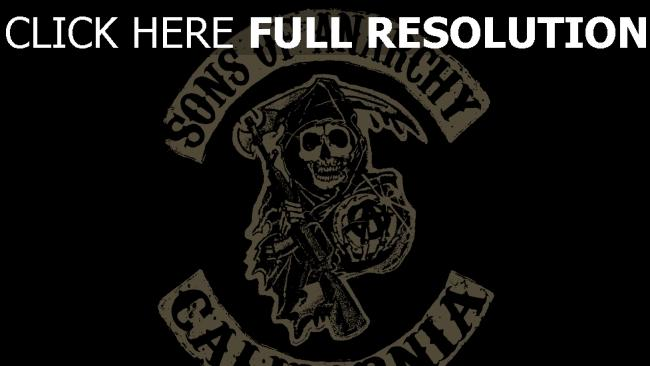 fond d'écran hd sons of anarchy graffiti logo
