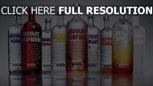 absolut vodka bouteille