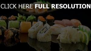 sushi makis gros plan citron