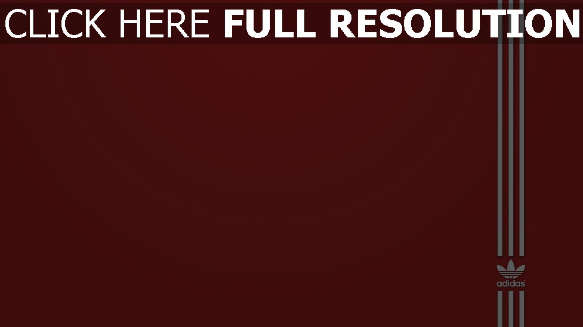 Télécharger 1920x1080 Full Hd Fond Décran Adidas Rouge Arrière Plan