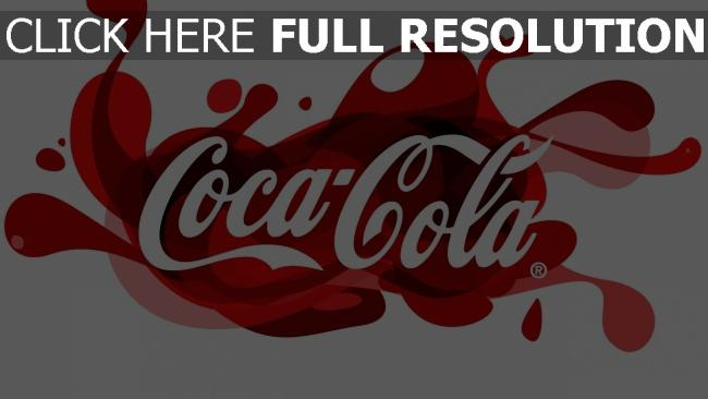 fond d'écran hd coca-cola éclaboussure inscription