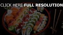 sushi plat makis délicieux
