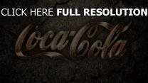 coca-cola inscription route gros plan