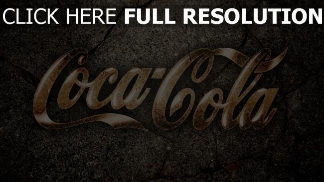 fond d'écran hd coca-cola inscription route gros plan