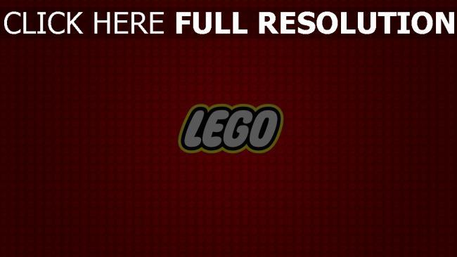 fond d'écran hd lego inscription rouge arrière-plan