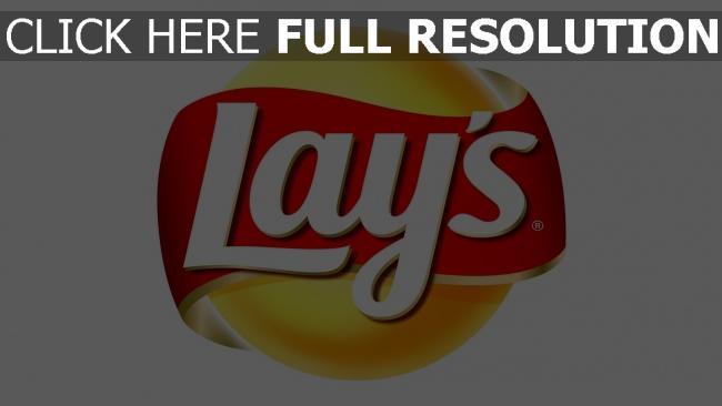 fond d'écran hd lays chips de pomme, inscription