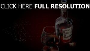 hennesy verre cognac bouteille
