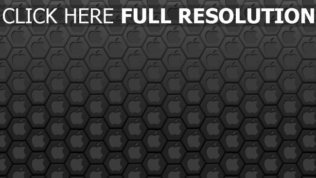 fond d'écran hd apple arrière-plan hexaèdre