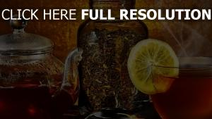 thé citron vintage bouilloire