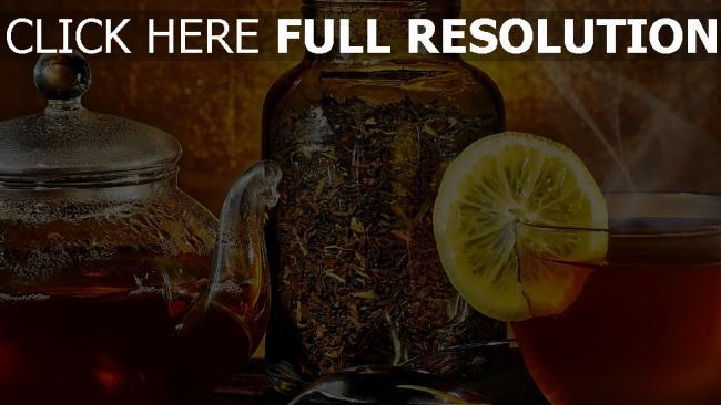 fond d'écran hd thé citron vintage bouilloire