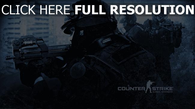 fond d'écran hd counter-strike forces spéciales mitrailleur