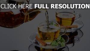 théière thé cannelle menthe