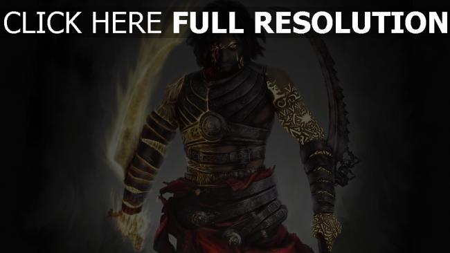 fond d'écran hd prince of persia épée démon