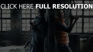 watch dogs opposé aiden pearce pistolet ruines