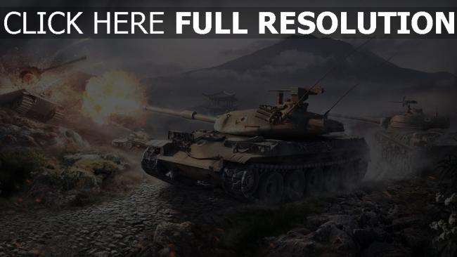 fond d'écran hd world of tanks stb-1 salve
