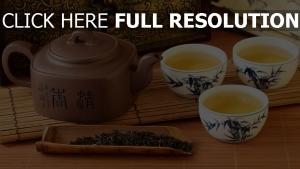 thé tasse bouilloire japonais