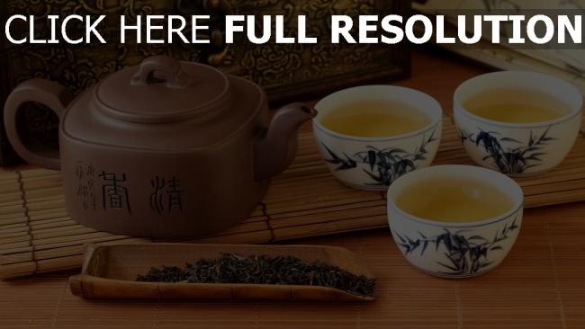 fond d'écran hd thé tasse bouilloire japonais