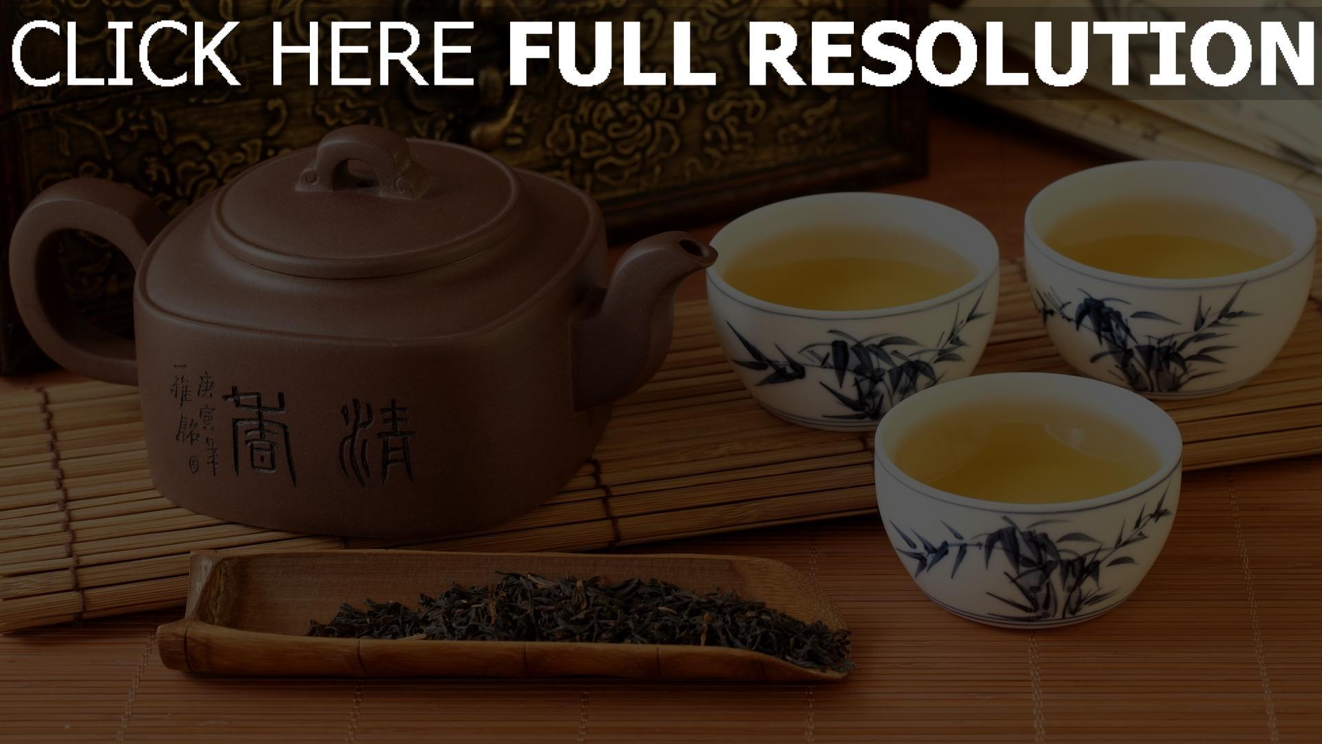 fond d'écran 1920x1080 thé tasse bouilloire japonais