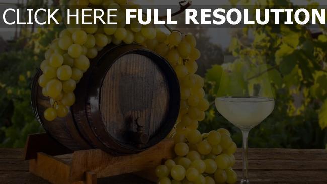 fond d'écran hd verre vin raisins baril