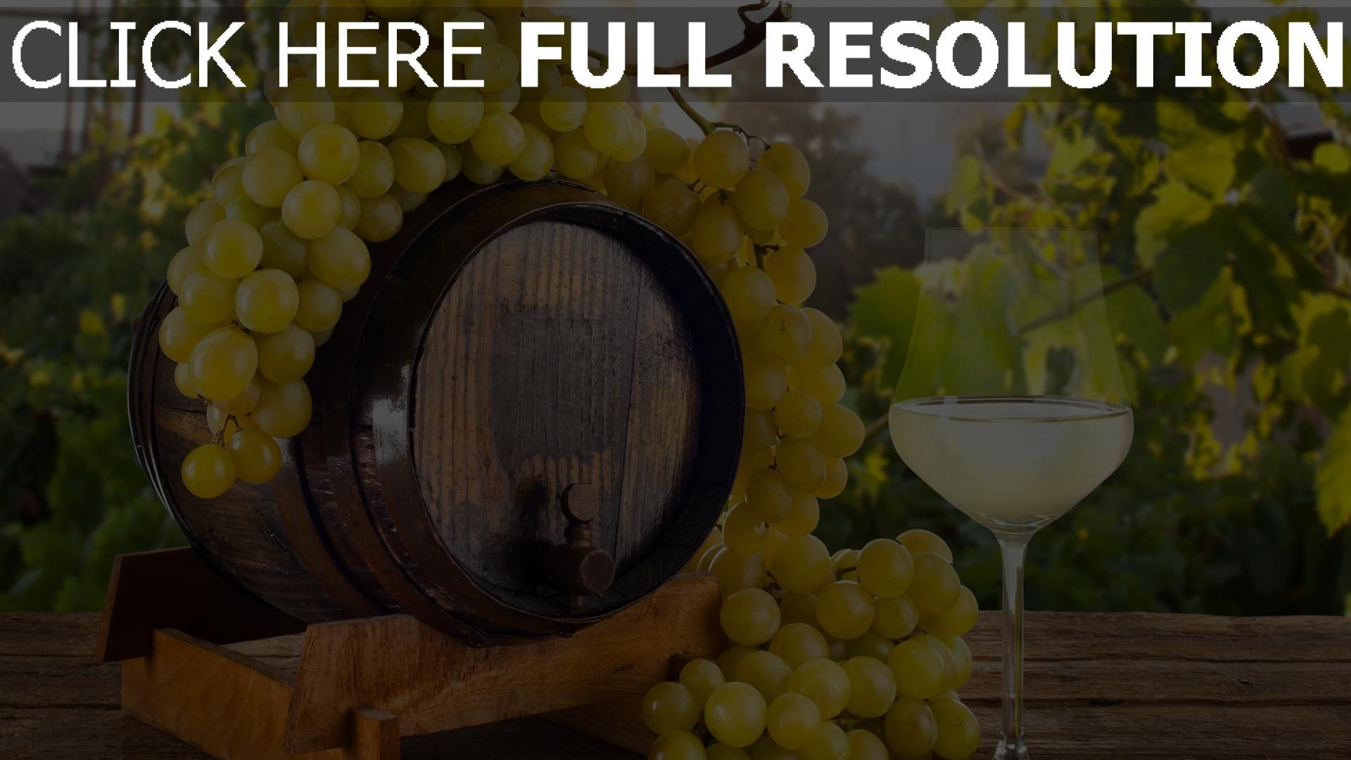 fond d'écran 1920x1080 verre vin raisins baril
