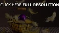 pâques oeuf plume