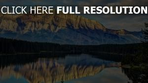 montagne lac autriche calme