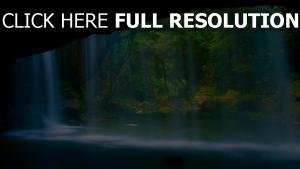chute d'eau lac forêt grotte Italie