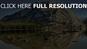 lac canada montagne calme