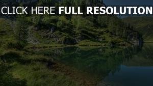 montagne lac réflexion suisse