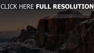 himalaya montagne enneigé vue de côté